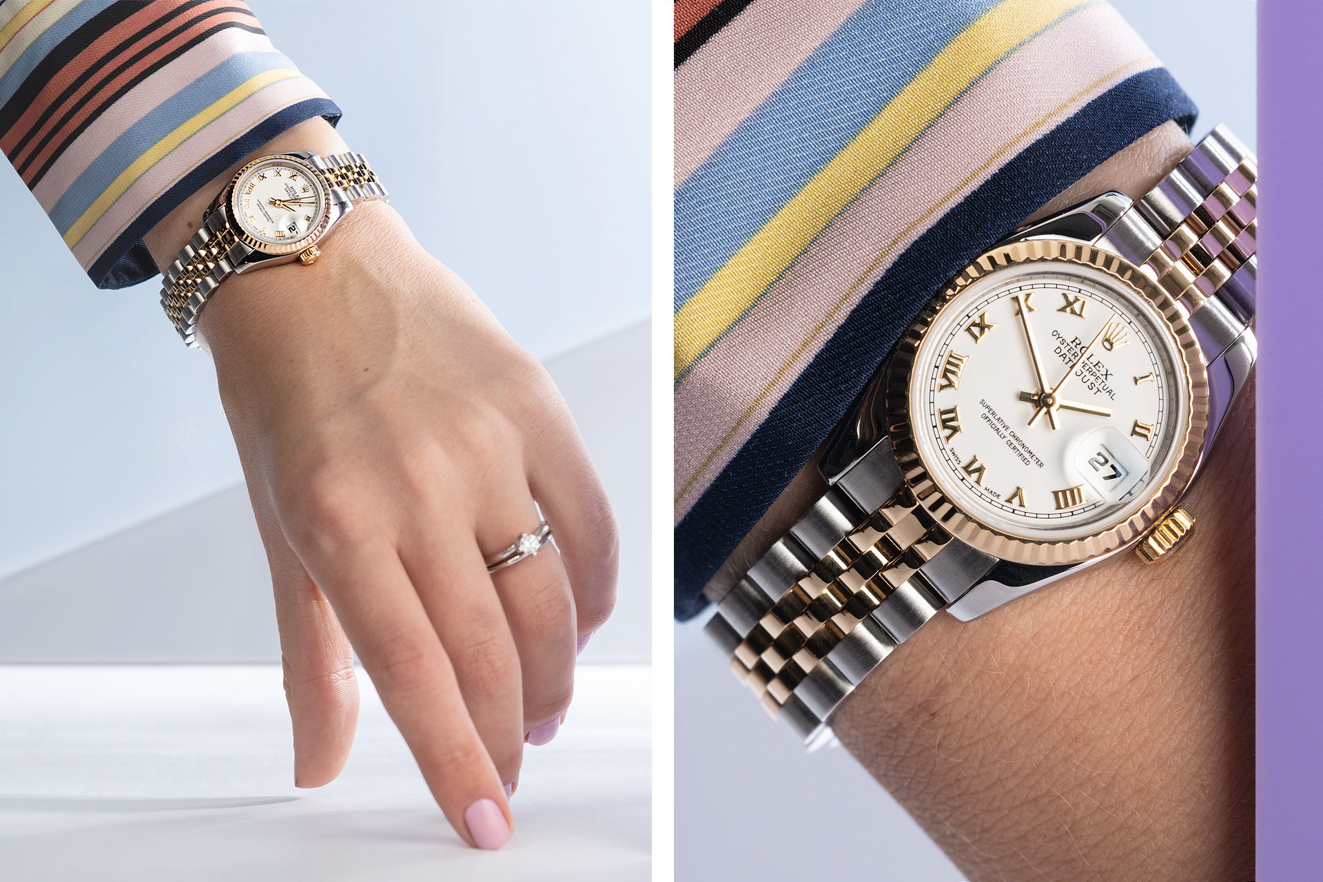 Replica Rolex Lady-Datejust 26mm Yellow Gold Watch