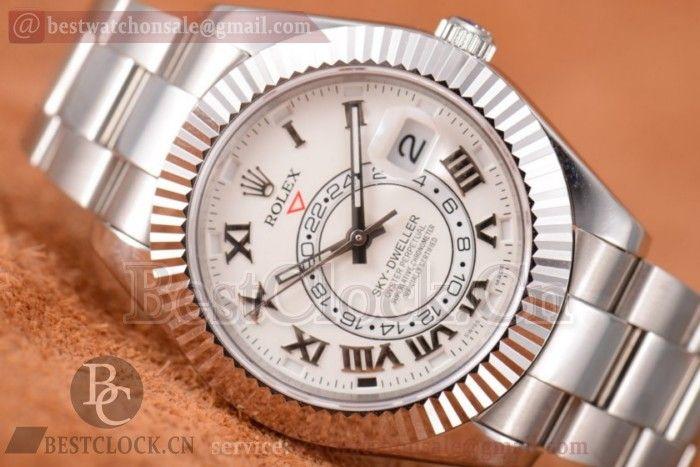 Replica Rolex Sky-Dweller White Dial