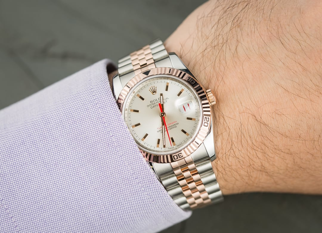 Replica Rolex Datejust Turn-O-Graph Rose Gold Watches